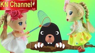 KN Channel BÚP BÊ TẬP LÀM NÔNG DÂN tập 3 CHƠI VỚI HỒNG HẠC VÀ CHUỘT CHỦI