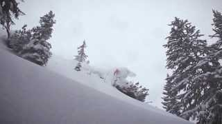 Смотреть онлайн Лыжный спуск за гранью экстрима