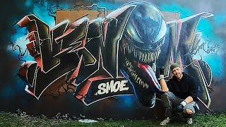 Marvel Fan Spray Paints Venom Graffiti