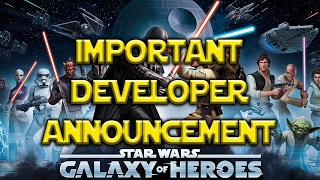 Star Wars: Galaxy Of Heroes - Important Update On How Characters Are To Be Released