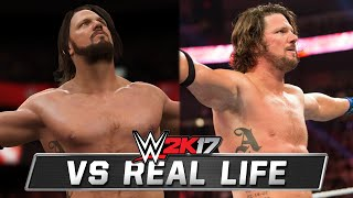 WWE 2K17 vs Real Life Comparison! (AJ Styles, Becky Lynch, & More)