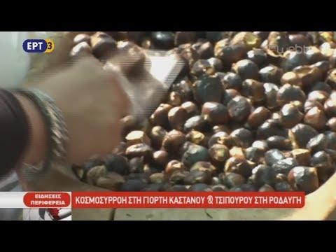 Κοσμοσυρροή στη γιορτή κάστανου και τσίπουρου στη Ροδαυγή | 16/10/2018 | ΕΡΤ