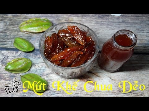 [ Art Cooking ] Cách làm Mứt Khế Chua Dẻo _How to make Sour Star Fruit Sweetmeat !