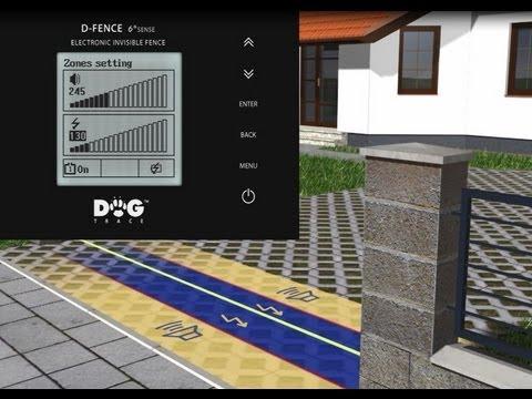 Dogtrace - Unsichtbarer elektronischer Hundezaun  d-fence 2002