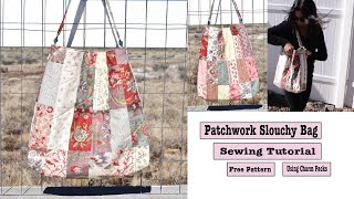 Quilted Patchwork Tote Bag Sewing Tutorial With Pockets