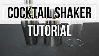 Cocktail Shaker richtig benutzen, Boston Shaker öffnen, Cocktail Shaker Tutorial zum Cocktail mixen
