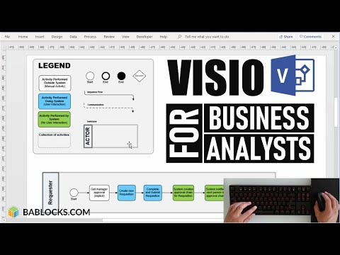 Process Mapping Demo For Business Analysts (MS Visio) - YouTube