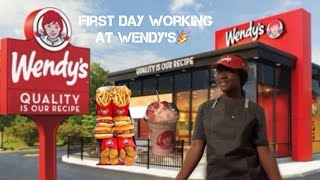 First day working at Wendy's 🎉 🍟🍗 *First Job
