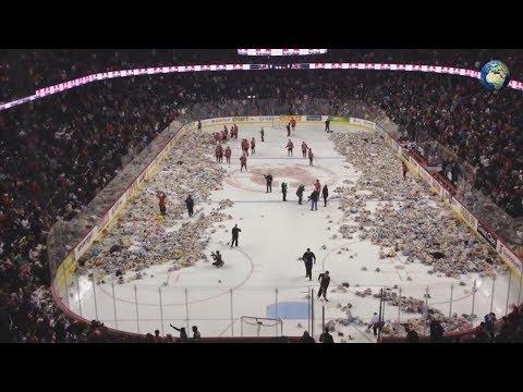 , title : 'Канадские поклонники хоккея забросали лед тысячами плюшевых мишек'