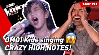 TOP 10 | OUTSTANDING HIGH NOTES in The Voice Kids! 😱 (part 2)