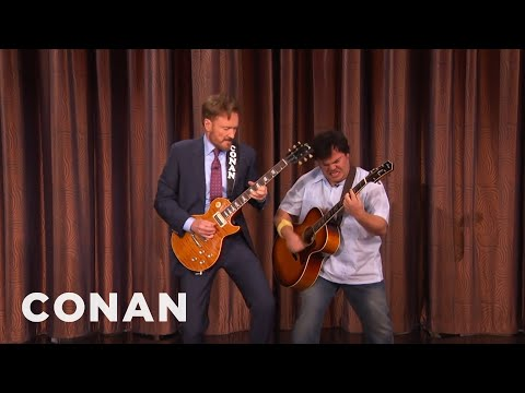 Conan And Jack Black's Guitar Battle  - CONAN on TBS