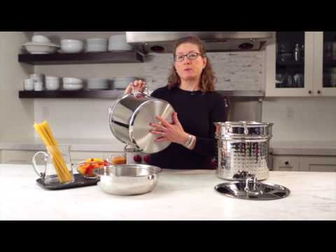 12 Qt. Pasta/Steamer Set (4 Piece Set) Demo Video (77-412)