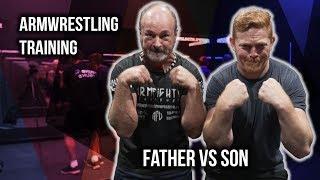 Armwrestling Training | Father Vs Son
