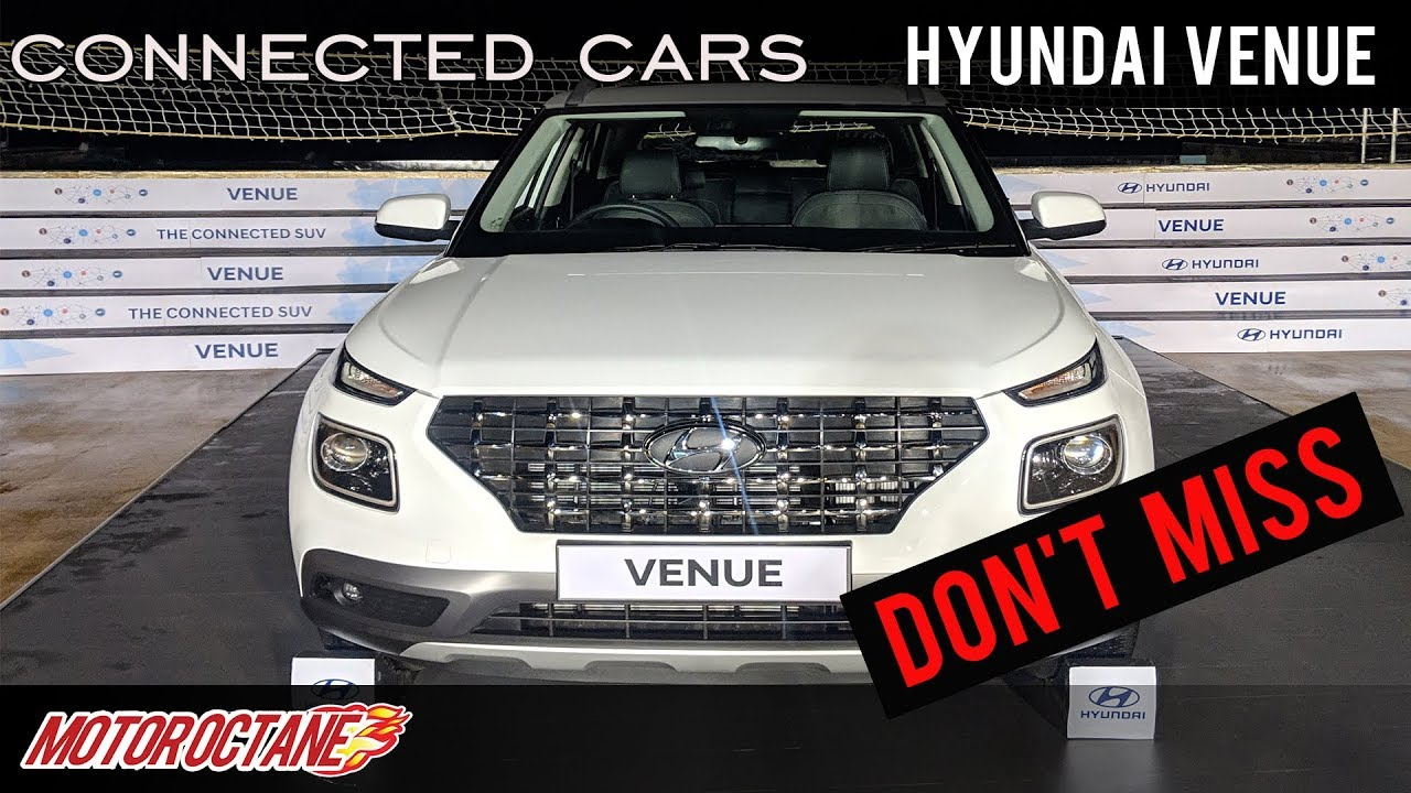 Motoroctane Youtube Video - CAN'T MISS: Hyundai Venue Connected Cars | Hindi | MotorOctane