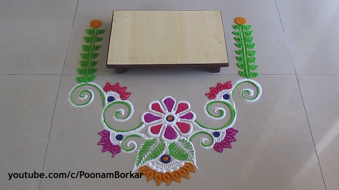 easy rangoli design for ganesh chathurthi by poonam borkar