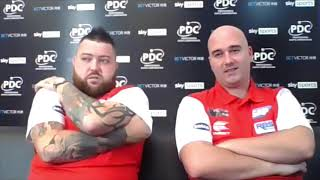 """Rob Cross and Michael Smith: """"Playing for England, you're twitching like a rabbit's nose!"""""""