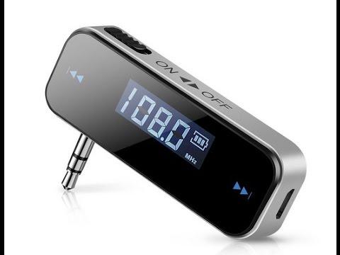Smarzon 3,5mm Wireless FM Transmitter Auto Audio Radioempfänger KFZ