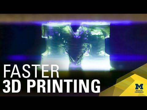 3D printing 100 times faster with light