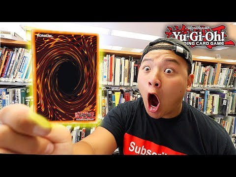 I PULLED ONE OF THE RAREST YU-GI-OH! CARDS IN THE LIBRARY!