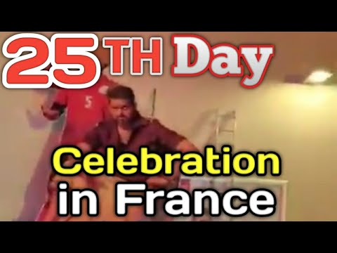 Bigil 25th Day Verithanam Mass Fans Celebration in France