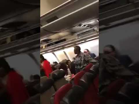 Nigeria Minister of finance and Oby Ezekwesili exchanging blows inside a plane