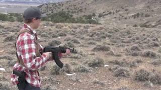 Bumpfiring A Draco AK47 Pistol