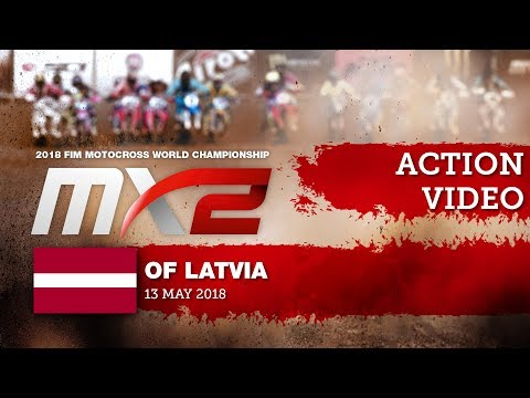 Pauls Jonass vs Thomas Kjer Olsen Battle - MX2 Qualifying Race   MXGP of Latvia 2018