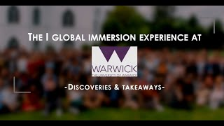The Global Immersion Experience – Memories from Warwick
