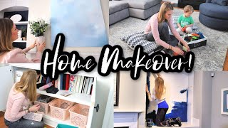 *NEW* FULL LIVING ROOM MAKEOVER! 🖤 HOME TOUR W/@Do It On A Dime
