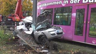 Tödlicher Straßenbahnunfall durch Einsatzfahrt in Bonn-Auerberg am 30.10.15 + O-Ton