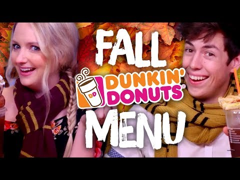 Trying DUNKIN' DONUTS special Fall Menu! (Cheat Day)