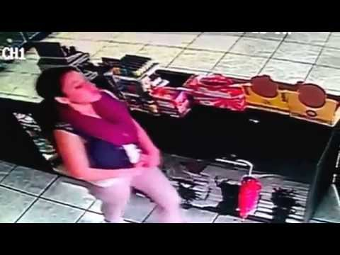 Employee caught stealing on her first day!!