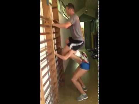 Hanna Knyazyeva-Minenko Triple-Jump fitness training
