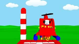 Пожарный Вертолёт тушит пожар в лесу - мультфильм для детей