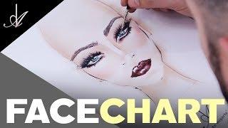 Maquillaje Face Chart Paso A Paso 2019 - Alberto Dugarte