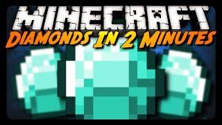 Minecraft: DIAMONDS IN 2 MINUTES! (Multiple Speed Runs)
