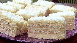 Przepis na ciasto Rafaello na herbatnikach, bez pieczenia