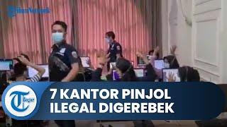 Detik-detik Bareskrim Polri Gerebek 7 Kantor Pinjaman Online Ilegal di Jakarta, 7 Orang Ditangkap