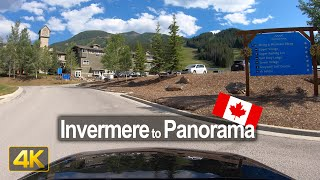 Scenic Drive from Invermere to the Panorama Mountain Resort 🇨🇦