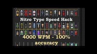 Nitro Type speed hack 2019