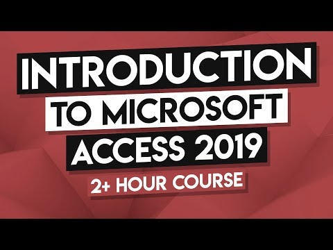 How to Use MS Access - Microsoft Access 2019 Full Tutorial - 2.5 ...