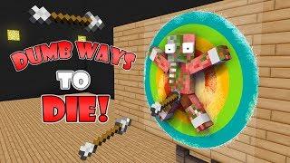 Monster School : DUMB WAYS TO DIE CHALLENGE! - Minecraft Animation