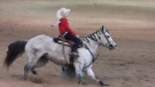 Junior NFR Barrel Racing Ages 12 - 16 Part 1 On December 13, 2018 At The Las Vegas Convention Center