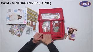 CA14 Mini Organizer (Large) | Yazzii Craft Bags