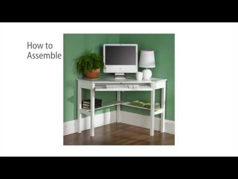 Video for White Corner Computer Desk