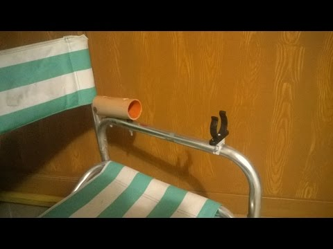 Come costruire un semplice reggicanna per sedia da pesca - DIY fishing chair rod holder