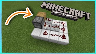 How To Make An Automatic Dispenser/Dropper - Minecraft PE