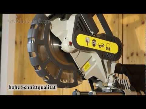 Die neue Kappsäge, Zugsäge und Gehrungssäge SRO305 zum präzisen Schneiden von Holzprofi