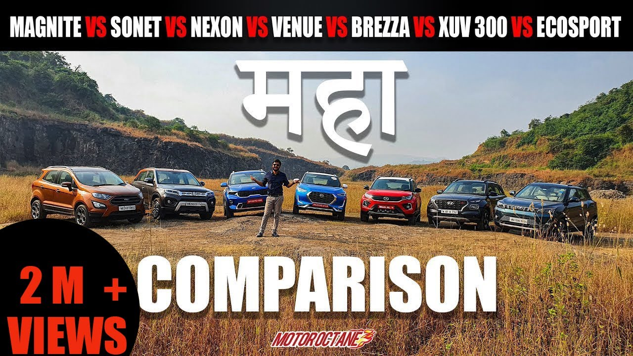 Motoroctane Youtube Video - Nissan Magnite vs Nexon vs Brezza vs Sonet vs Venue vs XUV300 vs Ecosport MAHA COMPARISON
