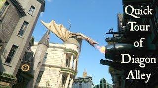 Quick tour of Diagon Alley at Universal Studios Orlando